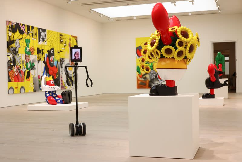 Philip Colbert's Lobsteropolis exhibition preview at Saatchi Gallery in London