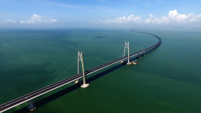 <p>Officials have claimed the bridge will cut travel times by 60 per cent. (Macau Times) </p>