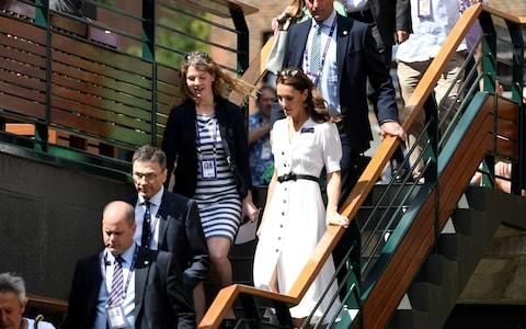 Kate makes her way to Court 14 - Credit: Reuters