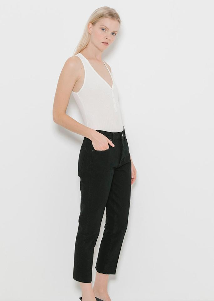 "GBTSO The Button-Front Bodysuit, $158; at <a rel=""nofollow"" href=""https://www.thedreslyn.com/the-button-front-bodysuit-1.html"" rel="""">The Dreslyn</a>"