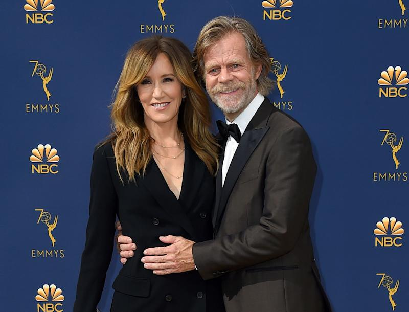 Felicity Huffman and William H. Macy in September 2018 in Los Angeles.