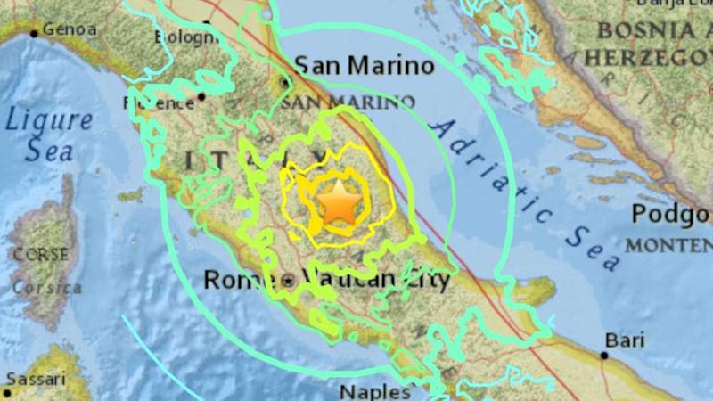 Magnitude 6.2 quake rattles Rome, central Italy