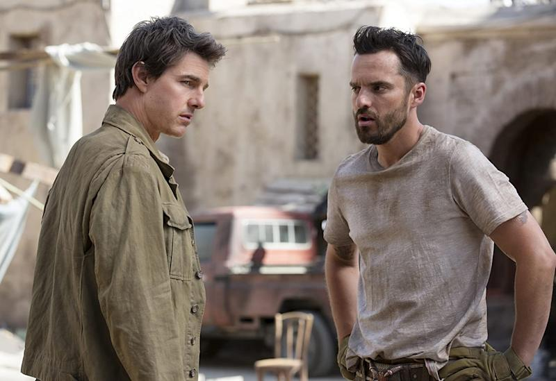 Jake Johnson was petrified of doing his own stunts with Tom Cruise on The Mummy (Image by Universal)