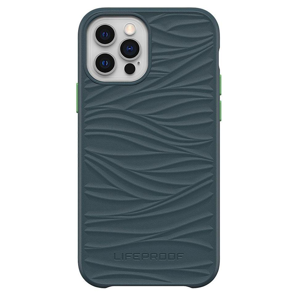 """<p><strong>LifeProof</strong></p><p>amazon.com</p><p><strong>$37.00</strong></p><p><a href=""""https://www.amazon.com/dp/B08PK6G3SL?tag=syn-yahoo-20&ascsubtag=%5Bartid%7C2089.g.30809947%5Bsrc%7Cyahoo-us"""" rel=""""nofollow noopener"""" target=""""_blank"""" data-ylk=""""slk:Shop Now"""" class=""""link rapid-noclick-resp"""">Shop Now</a></p><p>The Lifeproof WĀKE case is the pick that's the kindest to our oceans, because it's manufactured using 85% recycled, ocean-based plastic. One of my favorite bits about the accessory is the wave pattern on its back — it will remind you of where its materials came from.</p><p>As expected from a Lifeproof product, the WĀKE offers superb protection from scratches and drops. The eco-friendly phone case maker claims that it will help your smartphone survive drops from a height of almost 7 feet.</p><p>Lifeproof offers the WĀKE for <a href=""""https://go.redirectingat.com?id=74968X1596630&url=https%3A%2F%2Fwww.lifeproof.com%2Fen-us%2Fcategory-wake%2Fcategory-wake-iphone&sref=https%3A%2F%2Fwww.bestproducts.com%2Ftech%2Fgadgets%2Fg30809947%2Feco-friendly-phone-cases%2F"""" rel=""""nofollow noopener"""" target=""""_blank"""" data-ylk=""""slk:iPhone"""" class=""""link rapid-noclick-resp"""">iPhone</a>, <a href=""""https://go.redirectingat.com?id=74968X1596630&url=https%3A%2F%2Fwww.lifeproof.com%2Fen-us%2Fcategory-wake%2Fcategory-wake-galaxy&sref=https%3A%2F%2Fwww.bestproducts.com%2Ftech%2Fgadgets%2Fg30809947%2Feco-friendly-phone-cases%2F"""" rel=""""nofollow noopener"""" target=""""_blank"""" data-ylk=""""slk:Samsung Galaxy"""" class=""""link rapid-noclick-resp"""">Samsung Galaxy</a>, and <a href=""""https://go.redirectingat.com?id=74968X1596630&url=https%3A%2F%2Fwww.lifeproof.com%2Fen-us%2Fgoogle-cases%3Fprefn1%3Dseries%26prefv1%3DW%25C4%2580KE%2BCases&sref=https%3A%2F%2Fwww.bestproducts.com%2Ftech%2Fgadgets%2Fg30809947%2Feco-friendly-phone-cases%2F"""" rel=""""nofollow noopener"""" target=""""_blank"""" data-ylk=""""slk:Google Pixel"""" class=""""link rapid-noclick-resp"""">Google Pixel</a> smartphones in several finishes, with some inspired by the colors"""