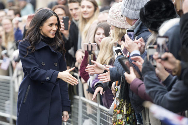 Meghan Markle in Nottingham on Dec. 1. (Photo: UK Press via Getty Images)