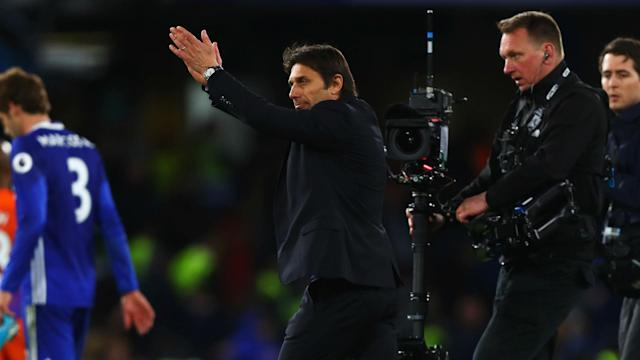 Chelsea took an important step towards the Premier League title with a 2-1 win over Manchester City but Antonio Conte is wary of Tottenham.