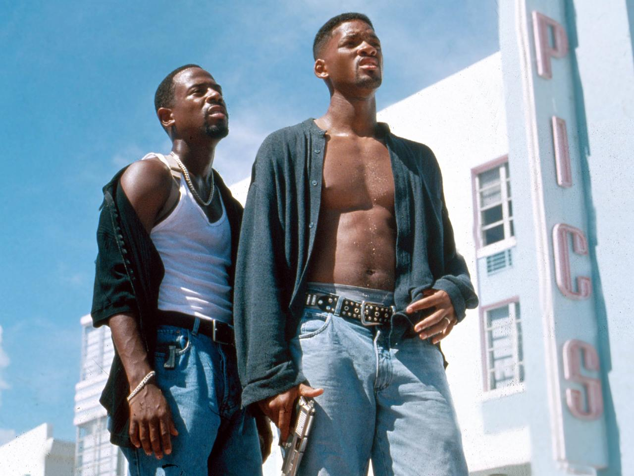 "Um 22.35 Uhr heißt es anschließend auf RTL II: ""Bad boys, bad boys whatcha gonna do? Whatcha gonna do when they come for you?"" In dem Actionstreifen ""Bad Boys – Harte Jungs"" zeigen Will Smith und Martin Lawrence Verbrechern, wo der Hammer hängt. (Bild-Copyright: Moviestore Collection/REX Shutterstock)"