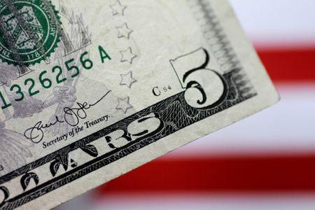 Illustration photo of a U.S. five dollar note