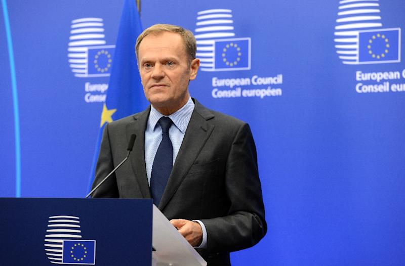Donald Tusk says the EU and US have no option except to co-operate with US President-elect Donald Trump (AFP Photo/Thierry Charlier)