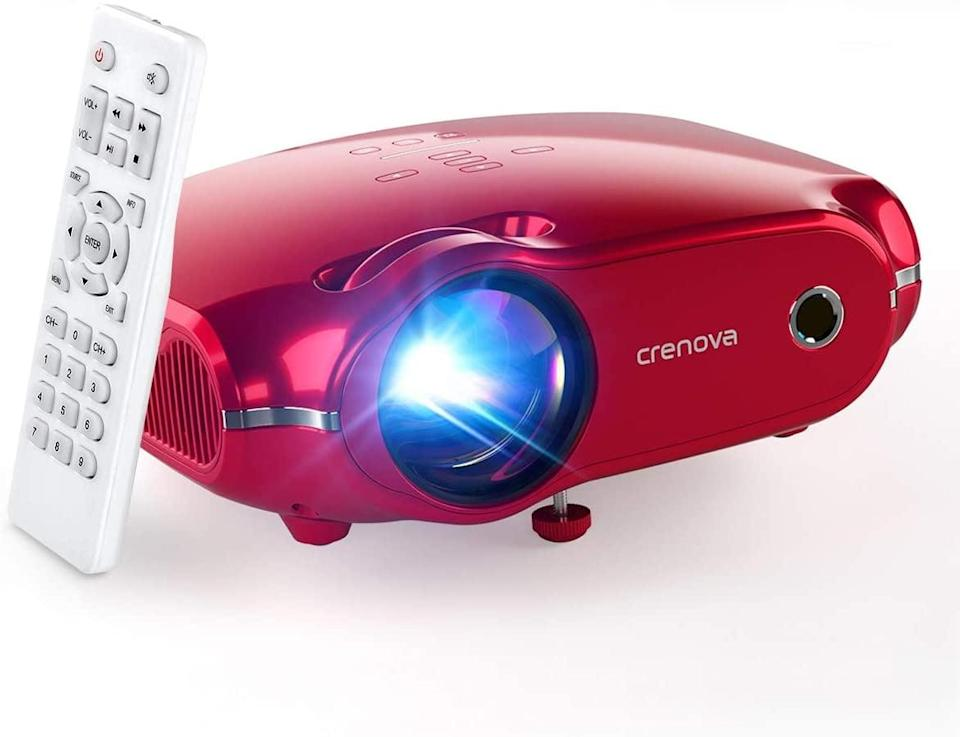 <p>Connect your Amazon Fire TV Stick, Roku, USB drives, X-Box ONE, and smartphones to the <span>Crenova Mini Projector</span> ($80). It has a 1920x1080 resolution with a maximum screen size of around 200 inches. It's equipped with an advanced built-in stereo speaker system, which offers excellent projected sound.</p>
