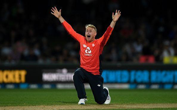 Parkinson took four wickets in his second international t20 match