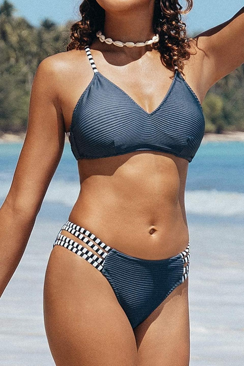 <p>This <span>CUPSHE Two Piece Bathing Suit</span> ($25) makes us want to book our next vacation.</p>