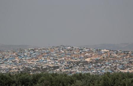 FILE PHOTO: A general view of Atmah camp for the displaced, in Atmeh town, Idlib province