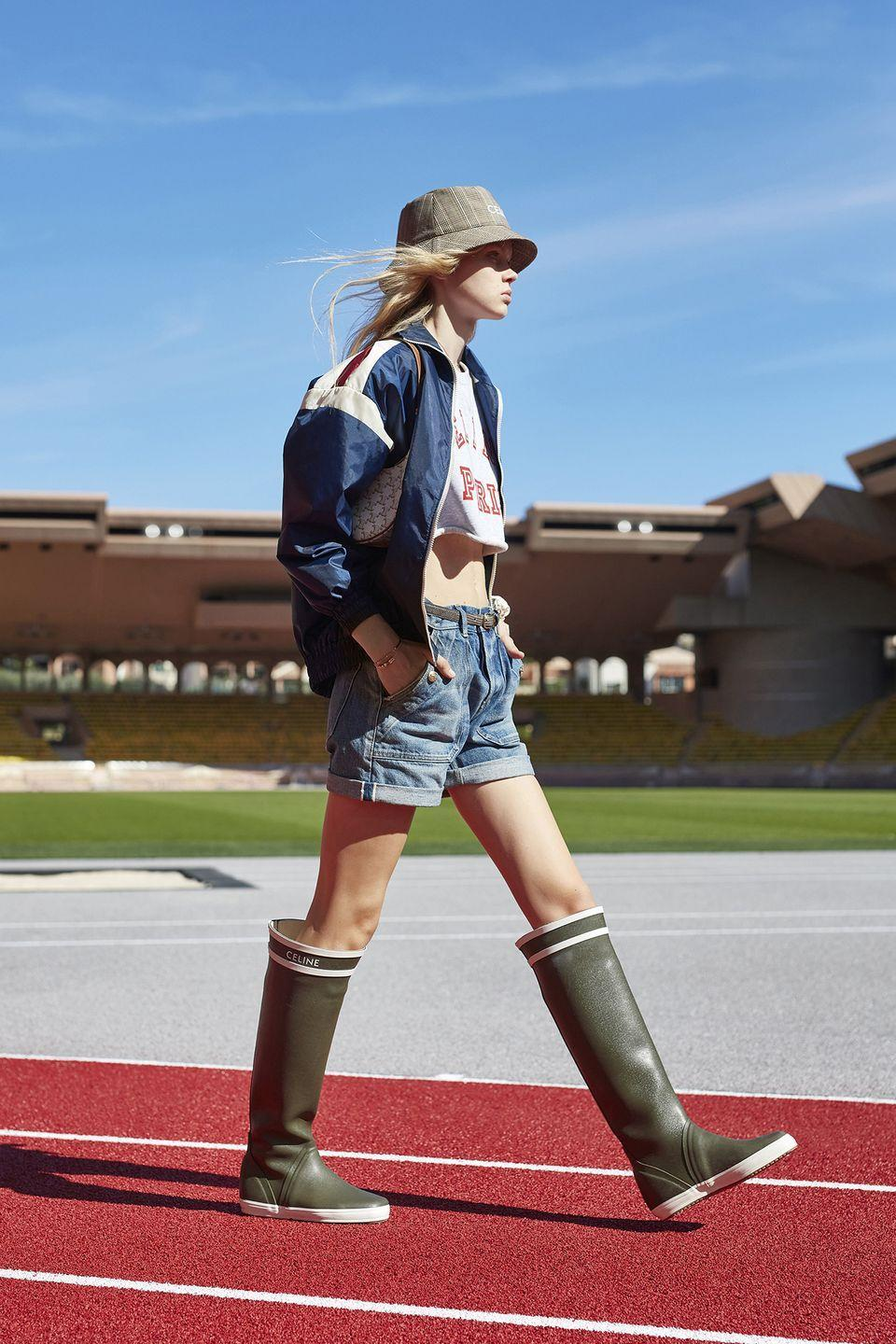 <p>Months cooped up at home made everyone a little more open to the idea of the great wide open. That embrace of nature, via hiking, fishing, and stargazing, will usher in a new appreciation for fashion-forward adventure clothes, from bucket hats to windbreakers to Wellies. </p><p><em>Pictured: Celine Spring 2021</em></p>