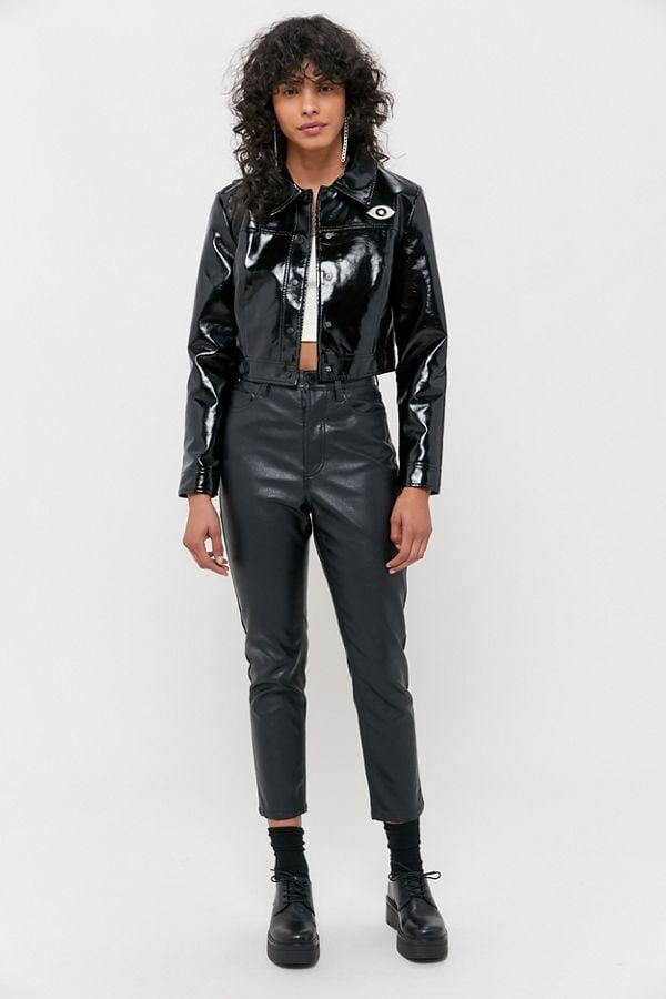 """<p>Stay protected with this cool <a href=""""https://www.popsugar.com/buy/Veda-Vegan-Patent-Leather-Cropped-Jacket-524396?p_name=Veda%20Vegan%20Patent%20Leather%20Cropped%20Jacket&retailer=urbanoutfitters.com&pid=524396&price=159&evar1=savvy%3Aus&evar9=46695667&evar98=https%3A%2F%2Fwww.popsugar.com%2Fsmart-living%2Fphoto-gallery%2F46695667%2Fimage%2F46954515%2FVeda-Vegan-Patent-Leather-Cropped-Jacket&list1=shopping%2Cgifts%2Curban%20outfitters%2Cgift%20guide&prop13=mobile&pdata=1"""" rel=""""nofollow"""" data-shoppable-link=""""1"""" target=""""_blank"""" class=""""ga-track"""" data-ga-category=""""Related"""" data-ga-label=""""https://www.urbanoutfitters.com/shop/veda-uo-exclusive-patent-faux-leather-cropped-jacket?category=womens-new-arrivals&amp;color=001&amp;type=REGULAR"""" data-ga-action=""""In-Line Links"""">Veda Vegan Patent Leather Cropped Jacket</a> ($159). The evil eye detail is so unique and fun</p>"""