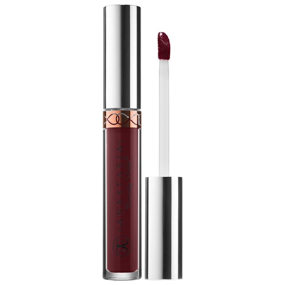 "<p>Anastasia launched these glossy lipsticks in 2015 and beauty bloggers and makeup artists have been in love with them ever since. The matte <a href=""https://www.popsugar.com/buy/Anastasia-Beverly-Hills-Liquid-Lipstick-584136?p_name=Anastasia%20Beverly%20Hills%20Liquid%20Lipstick&retailer=sephora.com&pid=584136&price=20&evar1=bella%3Aus&evar9=41950877&evar98=https%3A%2F%2Fwww.popsugar.com%2Fbeauty%2Fphoto-gallery%2F41950877%2Fimage%2F41950879%2FAnastasia-Beverly-Hills-Liquid-Lipstick&list1=makeup%2Ceyebrows%2Cbeauty%20shopping%2Canastasia%20beverly%20hills&prop13=mobile&pdata=1"" class=""link rapid-noclick-resp"" rel=""nofollow noopener"" target=""_blank"" data-ylk=""slk:Anastasia Beverly Hills Liquid Lipstick"">Anastasia Beverly Hills Liquid Lipstick</a> ($20) is packed with pigment and definitely goes on thick for a long-lasting lip. </p>"