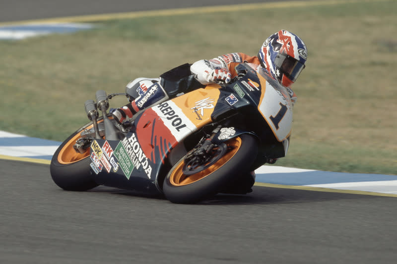 "1995: Mick Doohan, Repsol Honda Team<span class=""copyright"">Repsol Media</span>"