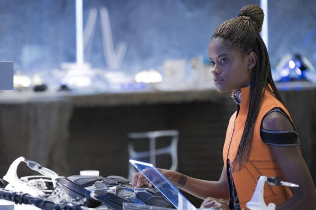 Shuri (Letitia Wright) in her lab. Photo: Marvel Studios