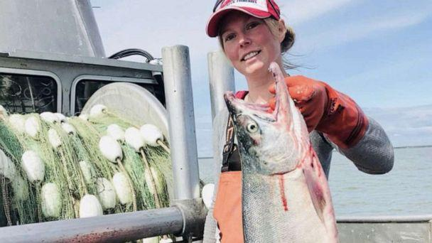 PHOTO: Katherine Carscallen's livelihood depends on seasonal sockeye salmon fishing in Bristol Bay, Alaska, but she fears COVID-19 may cause history to repeat itself. (Courtesy Katherine Carscallen)