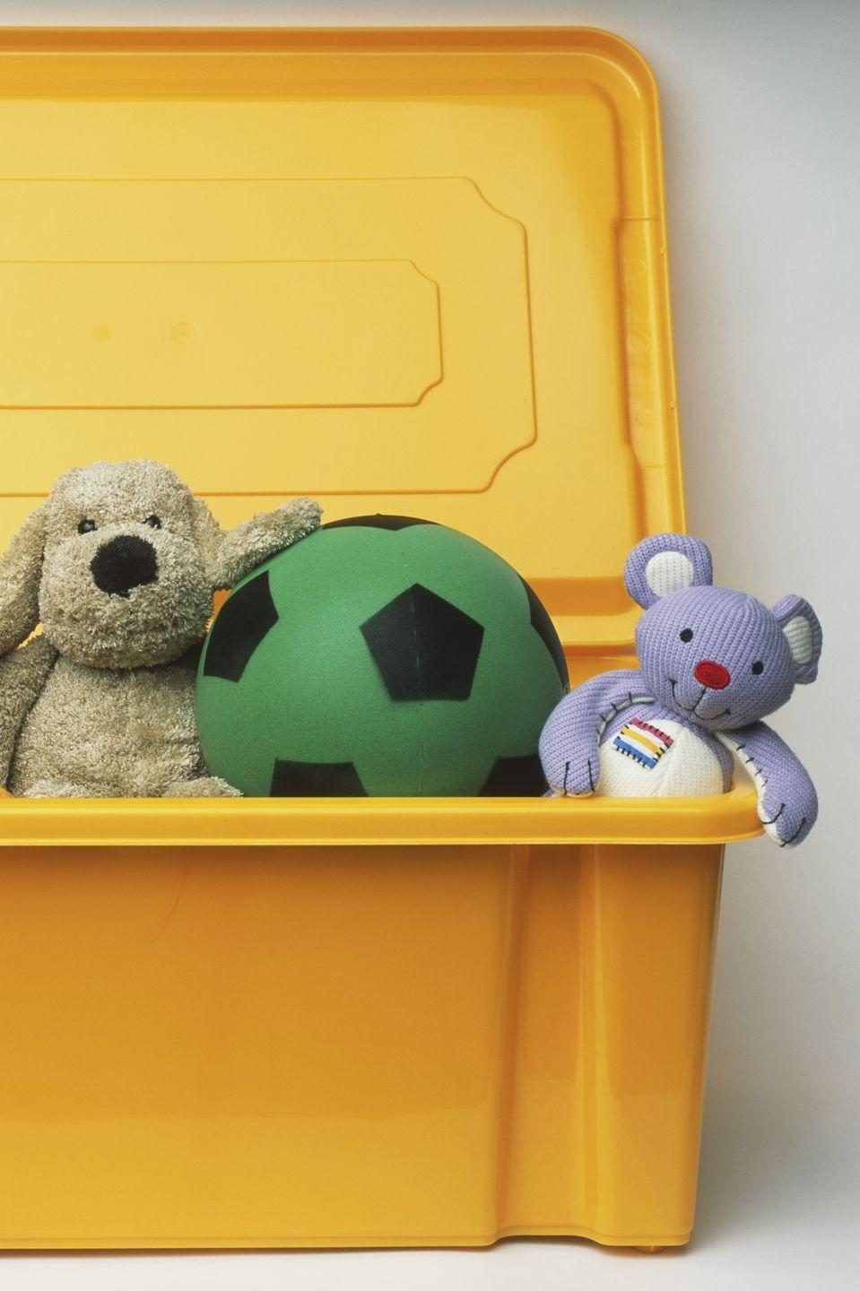 """<p>Leave a weatherproof, bench-style storage box outside for the kids' <a href=""""https://www.womansday.com/life/g982/gifts-for-kids/"""" rel=""""nofollow noopener"""" target=""""_blank"""" data-ylk=""""slk:outdoor toys"""" class=""""link rapid-noclick-resp"""">outdoor toys</a>.</p><p><strong><a class=""""link rapid-noclick-resp"""" href=""""https://www.amazon.com/Suncast-DBW7300-Mocha-Wicker-73-Gallon/dp/B0044V2ODW/?tag=syn-yahoo-20&ascsubtag=%5Bartid%7C10070.g.3310%5Bsrc%7Cyahoo-us"""" rel=""""nofollow noopener"""" target=""""_blank"""" data-ylk=""""slk:SHOP OUTDOOR BOXES"""">SHOP OUTDOOR BOXES</a></strong></p>"""