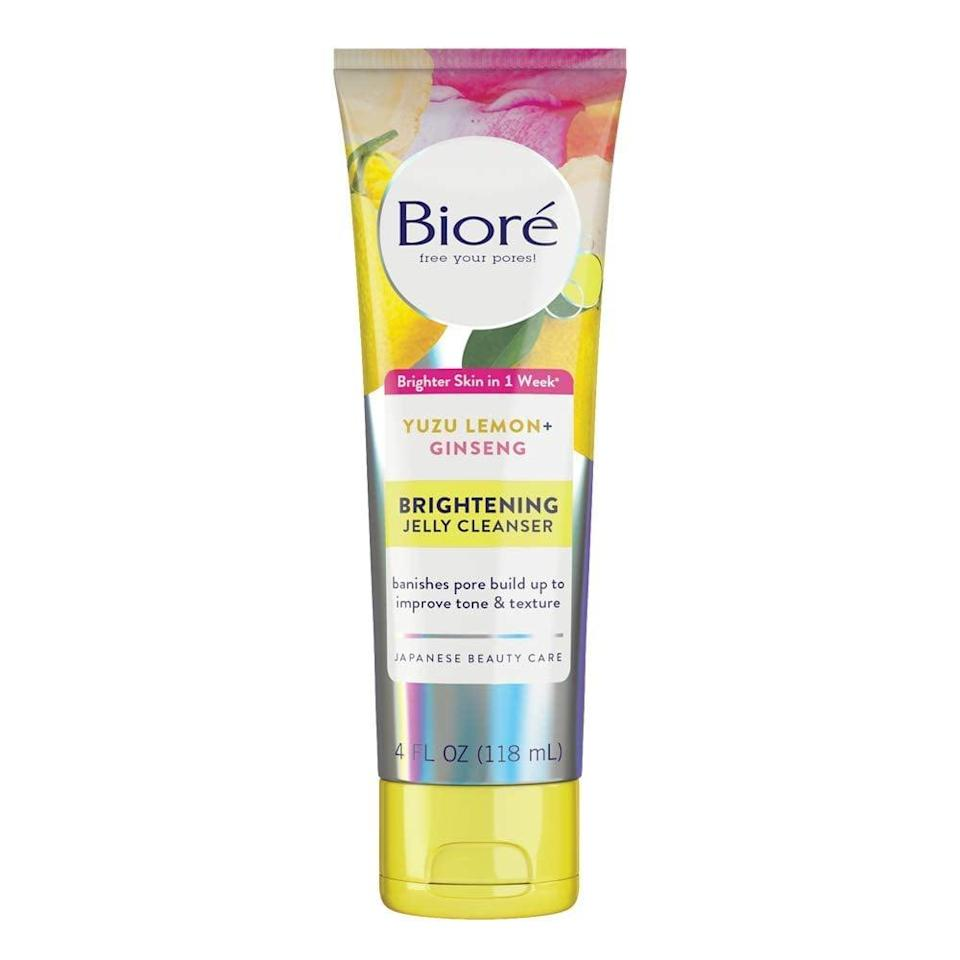 <p>The <span>Bioré Daily Brightening Jelly Cleanser</span> ($8) helps fight breakouts and addresses the uneven skin tone and texture left behind by fading acne marks.</p>
