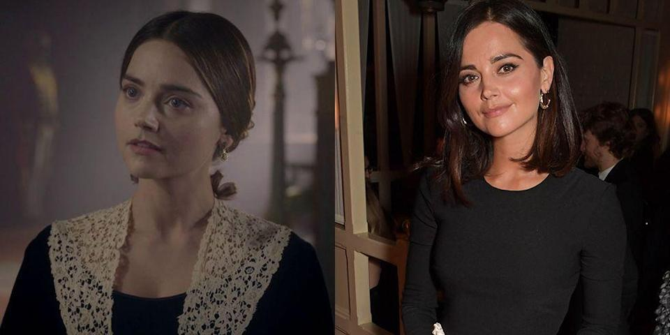 <p>Jenna Coleman's fashion and beauty choices are far less austere from what she wore for her role playing the young Queen of England on <em>Victoria</em>.</p>