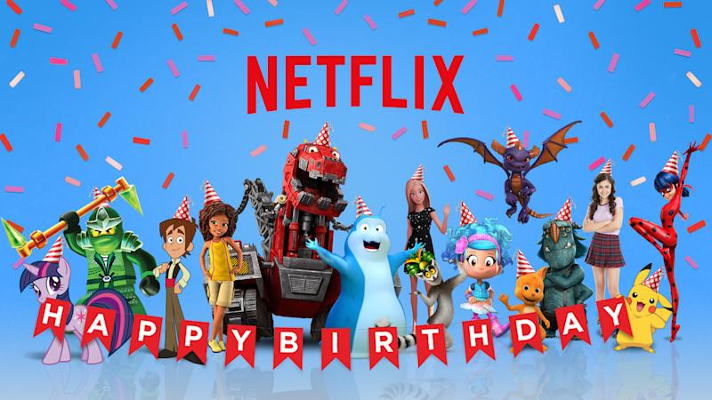 Netflix has released a series of two-minute videos featuring kids' favorite characters offering birthday greetings.
