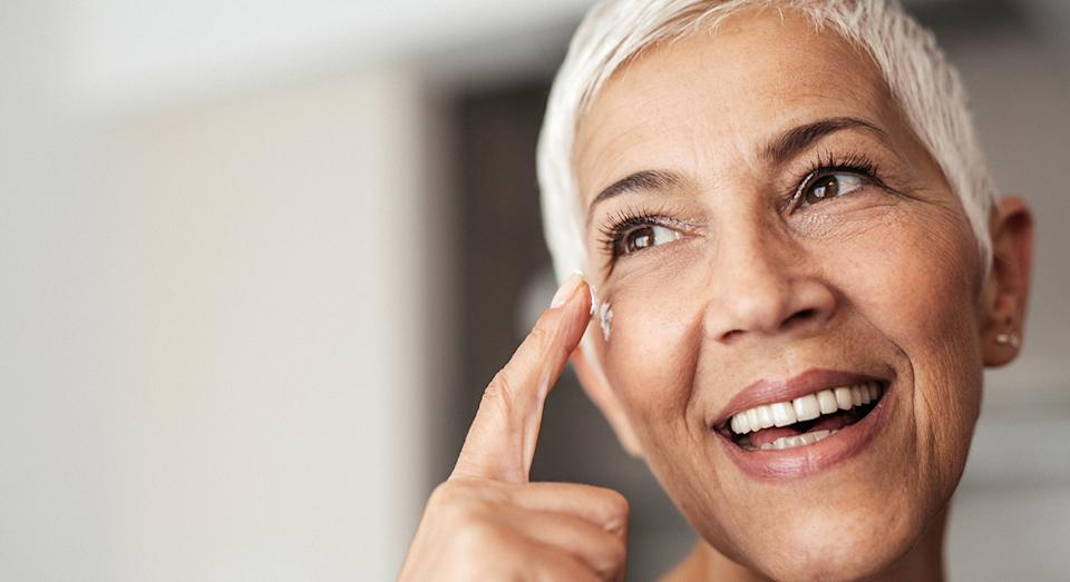 L'Oreal Paris' top-rated anti-wrinkle eye cream is now on sale at Amazon.  (posed by model, Getty Images)