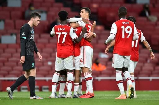 Arsenal enjoyed a surprise win over champions Liverpool
