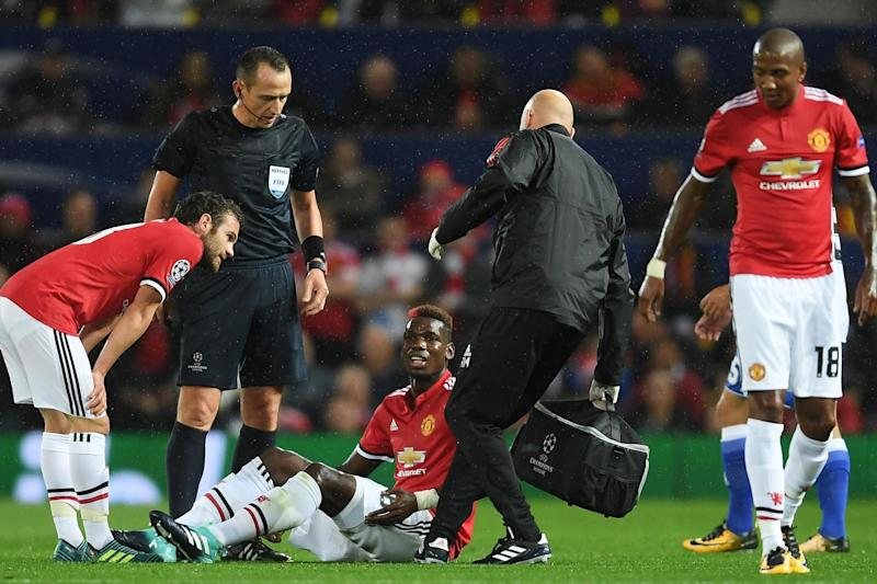 Pog blow | Mourinho fears midfielder will miss a 'few weeks' with hamstring injury: Laurence Griffiths/Getty Images