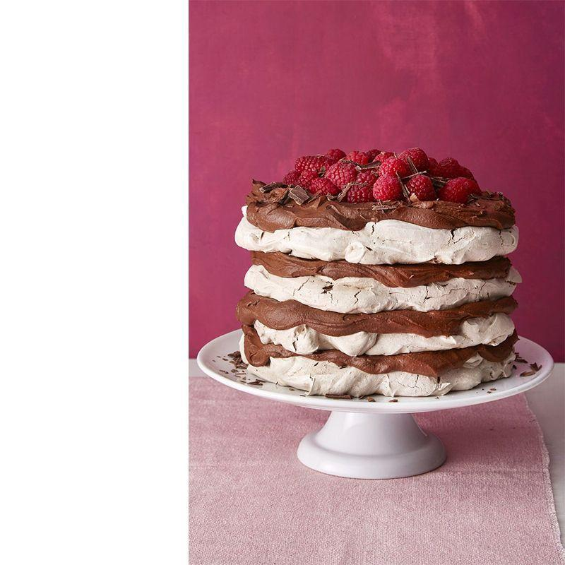 """<p>This cake only takes 45 minutes to make, so it's perfect for a <a href=""""https://www.womansday.com/relationships/family-friends/g27787712/last-minute-fathers-day-gifts/"""" rel=""""nofollow noopener"""" target=""""_blank"""" data-ylk=""""slk:last-minute Father's Day gift"""" class=""""link rapid-noclick-resp"""">last-minute Father's Day gift</a>.</p><p><a href=""""https://www.womansday.com/food-recipes/food-drinks/a19124220/chocolate-meringue-layer-cake-recipe/"""" rel=""""nofollow noopener"""" target=""""_blank"""" data-ylk=""""slk:Get the Chocolate Meringue Layer Cake recipe."""" class=""""link rapid-noclick-resp""""><em><strong>Get the Chocolate Meringue Layer Cake recipe.</strong></em></a></p>"""
