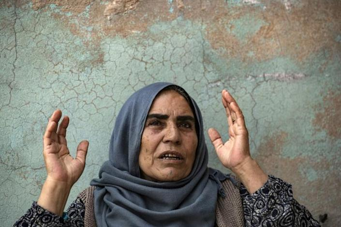 Syrian Kurdish mother Shara Sido, 65, says her son was shot dead by Turkey-backed Syrian fighters (AFP Photo/Delil souleiman)