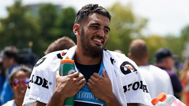On the 20th Practice Since Start of Training Camp, Titans QB Marcus Mariota Finally Has All His Weapons Around Him
