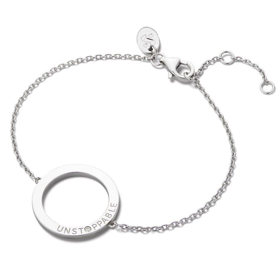 """<p>serenawilliamsjewelry.com</p><p><strong>$100.00</strong></p><p><a href=""""https://go.redirectingat.com?id=74968X1596630&url=https%3A%2F%2Fserenawilliamsjewelry.com%2Fcollections%2Fshop-all%2Fproducts%2Funstoppable-toggle-bracelet&sref=https%3A%2F%2Fwww.goodhousekeeping.com%2Fholidays%2Fgift-ideas%2Fg1405%2Fgifts-for-her%2F"""" rel=""""nofollow noopener"""" target=""""_blank"""" data-ylk=""""slk:Shop Now"""" class=""""link rapid-noclick-resp"""">Shop Now</a></p><p>Serena Williams is, for lack of a better word, <em>unstoppable —</em> just like the woman in your life. This sterling silver bracelet celebrates her can-do spirit and energy, while also adding a touch of sparkle (a gorgeous round diamond) wherever she goes. </p><p><strong>RELATED: </strong><a href=""""https://www.goodhousekeeping.com/holidays/gift-ideas/g30504750/best-gifts-for-wives/"""" rel=""""nofollow noopener"""" target=""""_blank"""" data-ylk=""""slk:Meaningful Gifts for Wives"""" class=""""link rapid-noclick-resp"""">Meaningful Gifts for Wives </a></p>"""