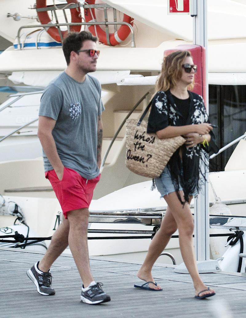 IBIZA, SPAIN - AUGUST 26: Blanca Suarez (R) and Dani Martin (L) are seen on August 26, 2014 in Ibiza, Spain. (Photo by Europa Press/Europa Press via Getty Images)