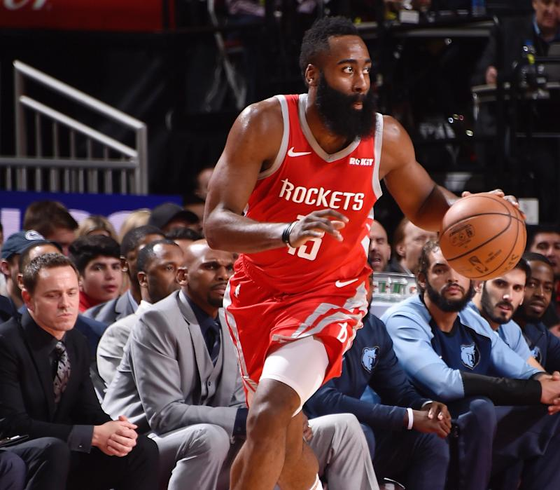 Harden posts season-high 57 points as Rockets blast away from Memphis