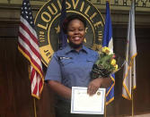 FILE - This undated file photo provided by Taylor family attorney Sam Aguiar shows Breonna Taylor in Louisville, Ky. Taylor, a 26-year-old Louisville, Ky., emergency medical worker studying to become a nurse, was shot several times in her hallway after three plainclothes narcotics detectives busted down the door of her apartment in the middle of the night in March 2020. A grand jury brought no charges against officers in her death, although one was indicted for shooting into a neighboring home that had people inside. (Courtesy of Taylor Family attorney Sam Aguiar via AP, File)