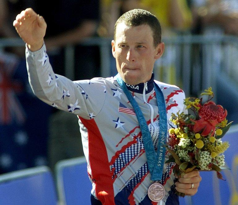 Lance Armstrong won the bronze medal in the men's time trial of the Sydney Olympic Games on September 30, 2000