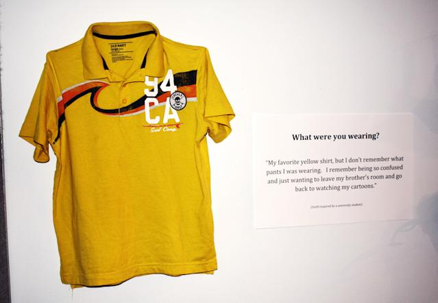 """<strong>What were you wearing?</strong> """"My favorite yellow shirt, but I don't remember what pants I was wearing. I remember being so confused and just wanting to leave my brother's room and go back to watching my cartoons."""" (Jennifer Sprague)"""