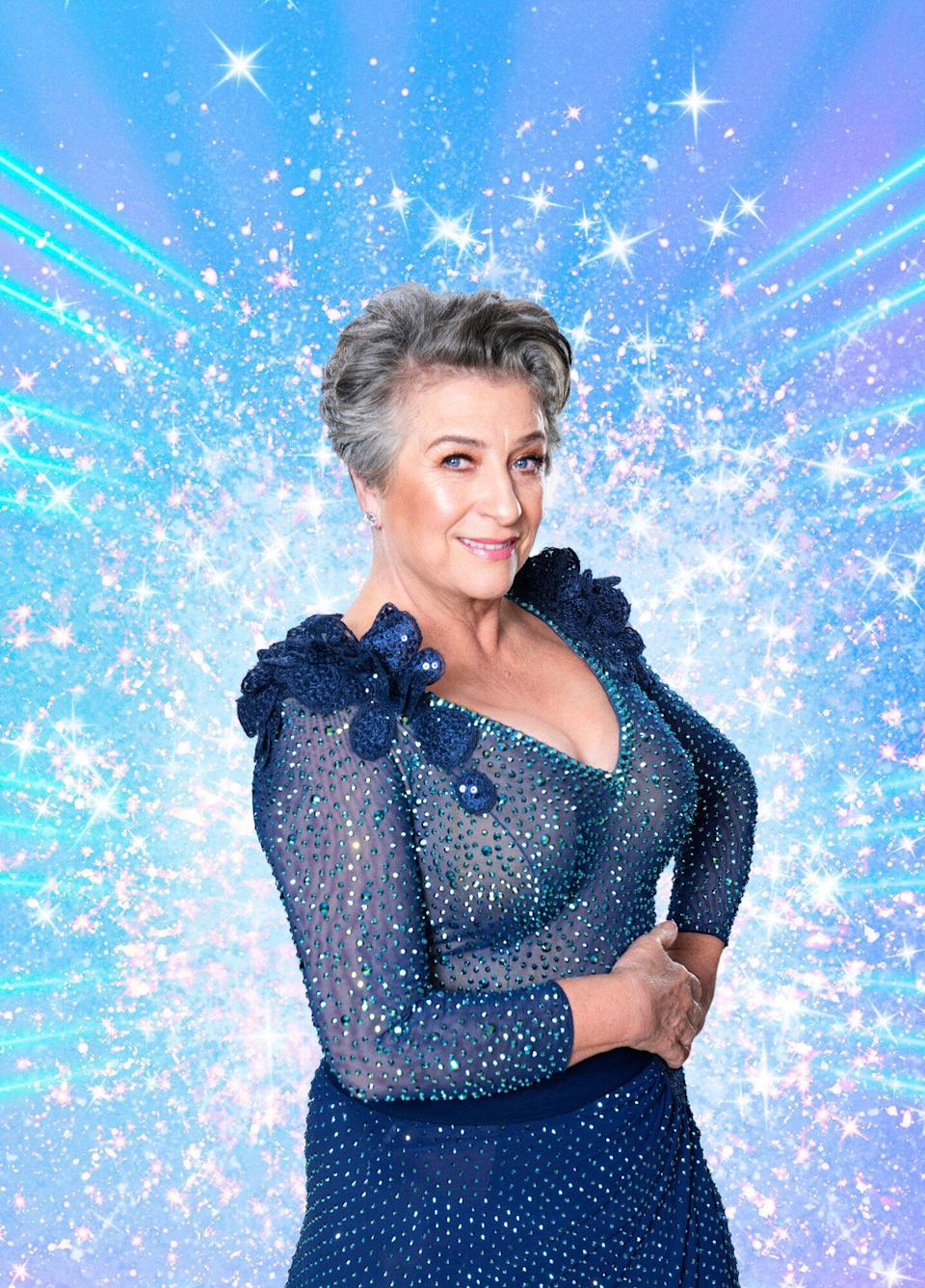 Caroline Quentin in her Strictly promo photo (Photo: BBC/Ray Burmiston)