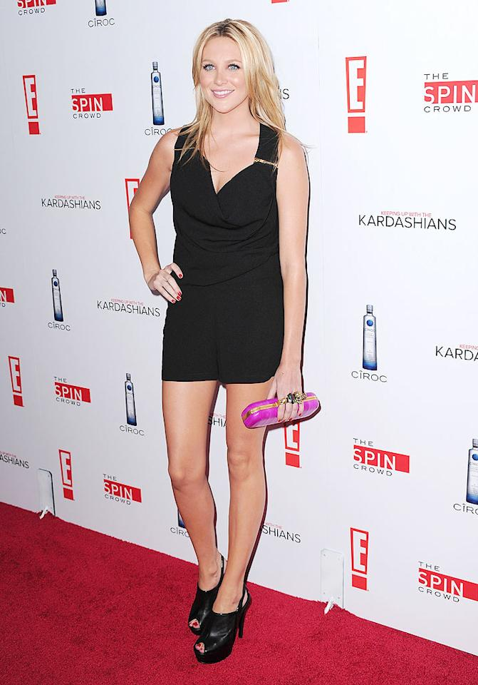 """Former """"Hills"""" starlet Stephanie Pratt rocked up in a barely-there black mini and clunky heels. Do you think Steph should get her own reality show? Jordan Strauss/href=""""http://www.wireimage.com"""" target=""""new"""">WireImage.com - August 19, 2010"""