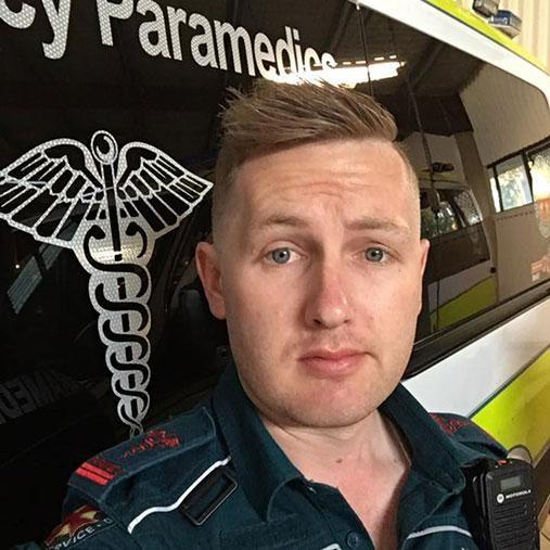 Paramedic Michael Slicker shared an emotional post for marriage equality. Photo: Facebook