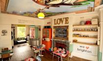 """<p>Quirky hotel <a href=""""https://go.redirectingat.com?id=127X1599956&url=https%3A%2F%2Fwww.booking.com%2Fhotel%2Fgb%2Fsnooze-brighton.en-gb.html%3Faid%3D1922306%26label%3Dunusual-hotels-uk&sref=https%3A%2F%2Fwww.goodhousekeeping.com%2Fuk%2Flifestyle%2Ftravel%2Fg34667984%2Fquirky-unusual-hotels-uk%2F"""" rel=""""nofollow noopener"""" target=""""_blank"""" data-ylk=""""slk:Snooze"""" class=""""link rapid-noclick-resp"""">Snooze</a> is an explosion of '70s chic and memorabilia, including framed vinyl covers, old gig posters, vintage fairground signs and retro wallpaper. </p><p>Set in the heart of Kemptown in Brighton, it's ideal for scouring the area's antique and vintage emporiums, and it's just a five-minute walk to the seafront. Riotous, fun, and funky, it's calling your name if you're a bit of an old rocker.</p><p><a href=""""https://www.goodhousekeepingholidays.com/offers/east-sussex-brighton-snooze-bed-and-breakfast"""" rel=""""nofollow noopener"""" target=""""_blank"""" data-ylk=""""slk:Read our review of Snooze."""" class=""""link rapid-noclick-resp"""">Read our review of Snooze.</a></p><p><a class=""""link rapid-noclick-resp"""" href=""""https://go.redirectingat.com?id=127X1599956&url=https%3A%2F%2Fwww.booking.com%2Fhotel%2Fgb%2Fsnooze-brighton.en-gb.html%3Faid%3D1922306%26label%3Dunusual-hotels-uk&sref=https%3A%2F%2Fwww.goodhousekeeping.com%2Fuk%2Flifestyle%2Ftravel%2Fg34667984%2Fquirky-unusual-hotels-uk%2F"""" rel=""""nofollow noopener"""" target=""""_blank"""" data-ylk=""""slk:CHECK AVAILABILITY"""">CHECK AVAILABILITY</a></p>"""