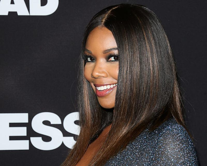 Gabrielle Union's plunging sparkly dress looks like the night sky