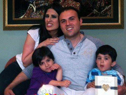 Photo courtesy of the American Center for Law and Justice shows Saeed Abedini with his wife and their two children