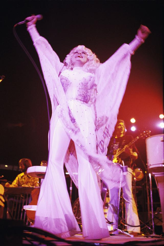 Dolly Parton Performs at Tech Coliseum on October 22, 1977.