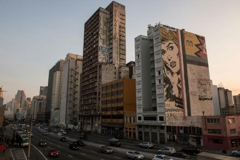 Sao Paulo's Prestes Maia building (C) is said to be the largest squat in Latin America and houses almost 500 families