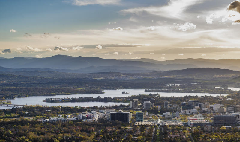 Canberra at dawn. (Source: Getty)