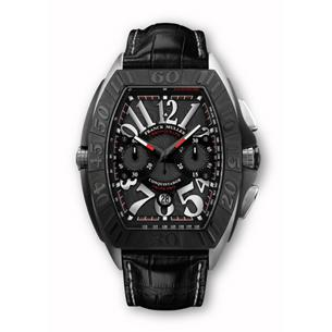 Franck Muller Conquistador Grand Prix - Though the black-and-red motif and grandness of the Conquistador Grand Prix are enough to make it a compelling buy, we like Franck's watches for their most unique of offerings: a touch of madness.