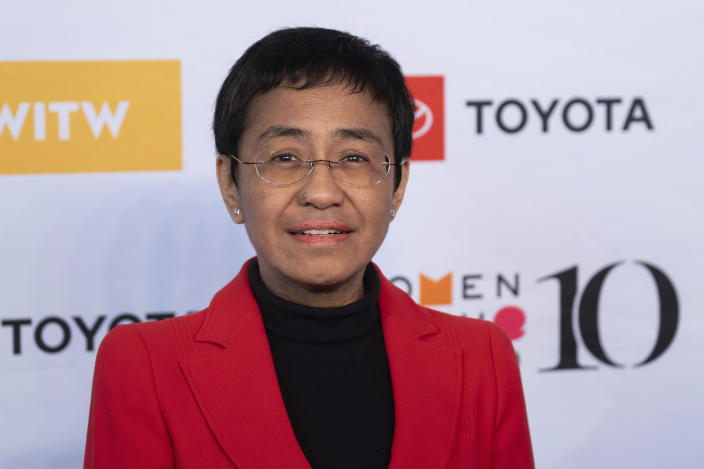 Maria Ressa in New York City last April. (Charles Sykes/Invision/AP)